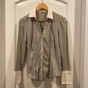 Express career blouse pinstripe